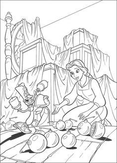 Belle en het Beest Kleurplaten voor kinderen. Kleurplaat en afdrukken tekenen nº 39