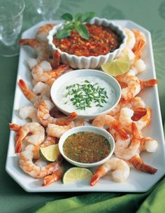 HomeRecipesThree amazing dips for a cocktail shrimp platter Recipes Three amazing dips for a cocktail shrimp platter, From a light, lemony vinaigrette to a creamy artichoke to a chipotle-spiced cocktail dip, it only takes minutes to make all three Shrimp Appetizers, Appetizer Dips, Shrimp Recipes, Appetizers For Party, Fish Recipes, Appetizer Recipes, Light Appetizers, Picnic Recipes, Picnic Ideas