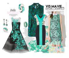 """Valéria"" by marciabackermendes ❤ liked on Polyvore featuring Oscar de la Renta, Dolce&Gabbana, Liberty Art Fabrics, Niquesa, Kenzo, Maiocci, women's clothing, women, female and woman"