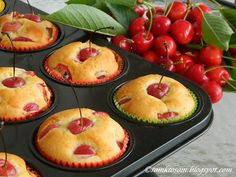RECEPTY Z MOJEJ KUCHYNE A ZÁHRADY: Čerešňové muffiny