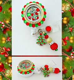 DELUXE Christmas Cheer Retractable Badge by Badgetopia on Etsy