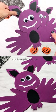 Halloween Arts And Crafts, Halloween Crafts For Toddlers, Fall Crafts For Kids, Diy Halloween Decorations, Kids Crafts, Halloween Craft Activities, Autumn Crafts, Diy For Kids, Home Crafts