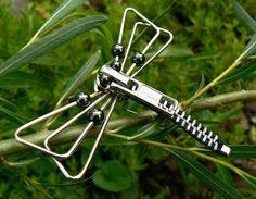 Steampunk Brooch - Zipper Brooch - Dragonfly Brooch
