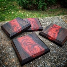 Wood Shop Projects, Small Wood Projects, Woodworking Projects Diy, Wood Resin Table, Epoxy Resin Wood, Diy Resin Art, Diy Resin Crafts, Wood Table Design, How To Make Coasters