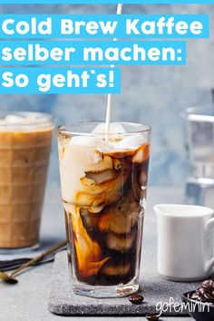 Make cold brew coffee yourself: simple instructions- Cold Brew Kaffee selber machen: Einfache Anleitung Make cold brew coffee yourself: simple instructions - Sugar Free Coffee Creamer, Homemade Coffee Creamer, Smoothies, Smoothie Recipes, Healthy Smoothie, Milkshake Recipes, Milkshakes, Cold Brew Kaffee, Making Cold Brew Coffee