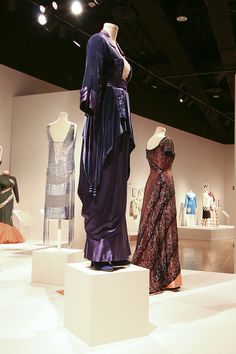 Titanic dresses. I like that you can see the back of the dinner gown in this picture.