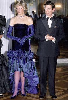 Princess Diana and Prince Charles at Munich Opera House in Germany, November 4, 1987.