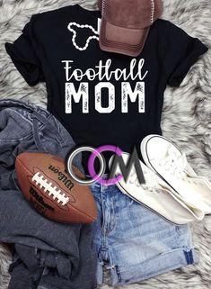 Football Mom T-shirt, Football Mama Shirt, Ladies Football T-shirt, Ladies Football Shirt- Tshirt - One Crafty Momma Football Mom Shirts, Women's Football, Mama Shirt, T Shirt, Crafty, Game, Clothes, Tops, Fashion