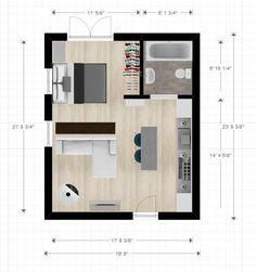 Small Apartment Plans Cabin Or Studio Apartment Layout Small Apartment Floor Plans 1 Bedroom Studio Apartment Floor Plans, Studio Floor Plans, One Room Apartment, Studio Apartment Layout, Studio Layout, Studio Apartment Decorating, Apartment Design, House Floor Plans, Small Apartment Layout