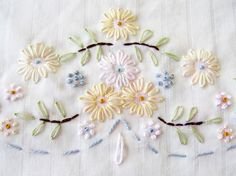 French knot and Lazy daisy time... by floresita, via Flickr