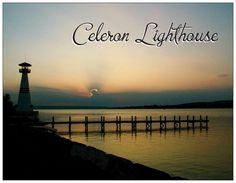 """Celeron Lighthouse Sunset"" by Brendan Halbohm, via 500px."