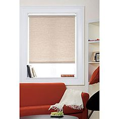 Simple roller shade, but I like it and the price is right. Would love to find something like this in a cute turquoise print.