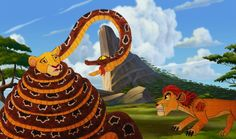 """""""Oversized python has invaded to Pride Lands, crossed paths with and struck its tight coils around of teen Kiara in attempt to squeeze her to limb and d. Python, Lion, Pride, Deviantart, Travel, Leo, Viajes, Lions, Destinations"""