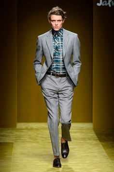 The starting inspiration for Salvatore Ferragamo's fall-winter 2016 men's collection were a simple pair of Andy Warhol's paint-splattered Ferragamo Oxfords. For Ferragamo creative director Massimiliano Giornetti, the shoes represented a brilliant mix of the formality found in the brand's heritage and an unparalleled sense of relaxed artistry. Seeking to capture that same essence for fall, …