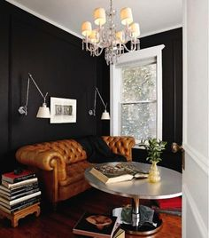 Cozy Living Dark Wall on the Interior Collective