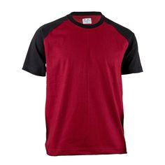 67949e02 BCPOLO Unisex Casual Sporty Raglan short sleeve T-shirt Cotton Round Neck  Sportswear-black XS