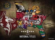 Texas looks good in Maroon. Southeastern Conference (SEC). edit: 7 straight national titles now. Sec Football, Auburn Football, Alabama Football, Football Season, College Football, Football Stuff, Football Fever, South Carolina Gamecocks, Carolina Football