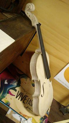 Primera vista del violín en blanco
