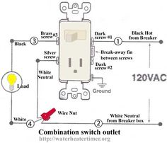 37d21800d5bd8258c3b4cd80e3977f0a wire switch electrical connection wiring outlets and lights on same circuit google search diy light switch receptacle combo wiring diagram at n-0.co
