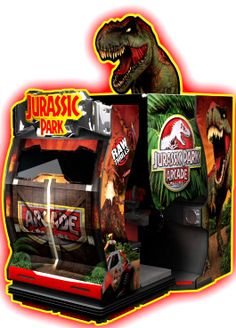 Jurassic Park Arcade Motion Theater Video Game   From Raw Thrills      Get more information about this game at: http://www.bmigaming.com/games-catalog-rawthrills.htm