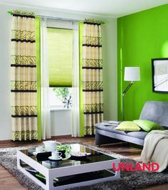 Unland Torino, Fensterideen, Vorhang, Gardinen und Sonnenschutz - curtains, contract fabrics, pleated blinds, roller blinds and more. Made in Germany