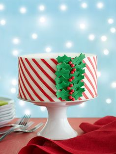 Hermoso pastel navideño.