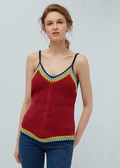Top crochet - Camisas de Mujer | MANGO España
