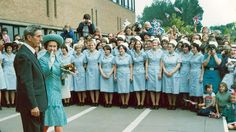 HM the Queen visiting Nottingham General Hospital in Hm The Queen, Vintage Nurse, Nurse Stuff, General Hospital, Nottingham, Nursing, British, Map, History
