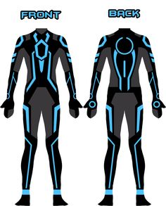 I decided to make a newer version of my own TRON Legacy suit. The old one was under-detailed. [link] My new Tron suit design Superhero Suits, Superhero Design, Tron Costume, Tron Art, Tron Bike, Tron Uprising, Tron Legacy, Future Clothes, Armor Concept