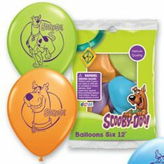 Scooby Doo Balloons, Scooby Doo Party Supplies