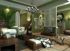 Wohnideen Wohnzimmer Farbgestaltung Grün sdatec.com