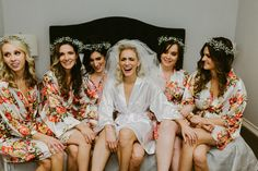 Bride and Bridesmaid Robes from Pomp and Valor