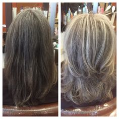 #kcharlesbulverde Rachel blended & brightened up her clients natural gray #avedahaircolor #loveyourhaircolor