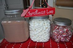 Have a hot cocoa bar on the counter during cold weather months for fast access. :)