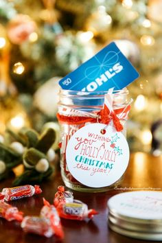 Creative ways to give gift cards... love this one for Chrsitmas!