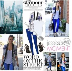 """""""Jessica Alba- style icon"""" by simona-832 ❤ liked on Polyvore"""