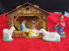 Vintage-Antique-Nativity-Set-Christmas-Collectible