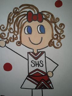 custom cheerleading canvas by Hulapotamus on Etsy, $15.00