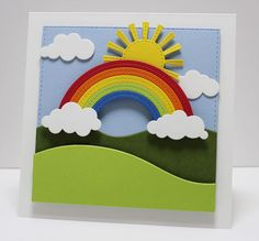 Rolling Hills Die-namics, Puffy Clouds Die-namics, Snow Drifts Die-namics, Stitched Rainbow Die-namics, Sunny Skies Die-namics - Jody Morrow  #mftstamps