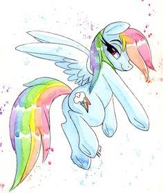 Rainbow Smile by PrettyPinkP0ny.deviantart.com on @DeviantArt
