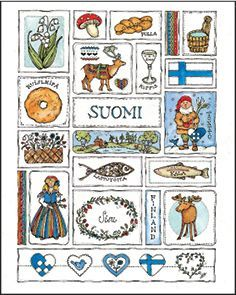 Suomi. Scandinavian Tattoo, Scandinavian Design, St Lucia Day, Norwegian Christmas, Swedish Design, Country Art, Norway, Folk Art, Independence Day