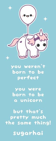 Super kawaii baby unicorn floating in the air with a happy balloon. Real Unicorn, Unicorn Art, Magical Unicorn, Cute Unicorn, Rainbow Unicorn, Unicorn Quotes, Unicorns And Mermaids, Unicorns Are Real, Unicorn Pictures