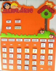 Calendário                                                                                                                                                                                 Mais Preschool Classroom, Preschool Activities, Kindergarten, Pre School, School Days, Crafts To Make, Crafts For Kids, Art For Kids, Projects To Try