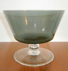Vintage Caithness Glass Footed Fruit Bowl by Domhnall O'Broin - 1960s   eBay