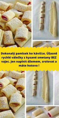 Czech Recipes, Hand Pies, How Sweet Eats, Sweet Desserts, Confectionery, Mini Cakes, Food To Make, Deserts, Good Food