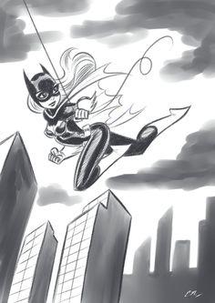 Batgirl Swinging Sketch by em-scribbles on DeviantArt