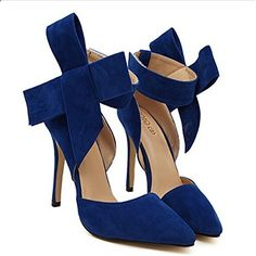 Plus Size Shoes Women Big Bow Tie Pumps Butterfly Pointed Stiletto Shoes Woman High Heels Wedding Shoes Bow knot Stiletto Shoes, High Heels Stilettos, Women's Pumps, Suede Pumps, Platform Pumps, Wedding Shoes Heels, Prom Shoes, Women's Shoes, Court Shoes