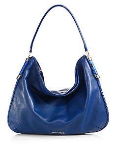 Jimmy Choo Zoe Leather & Snakeskin Shoulder Bag (=)