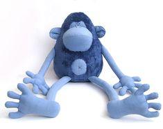 обезьяна голубая