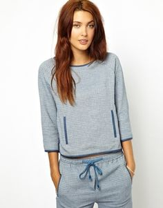 Sessun Sweater in Textured Chambray